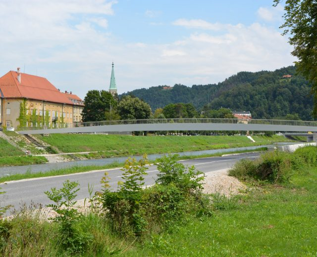 Raftsman's Footbridge over Savinja, Celje