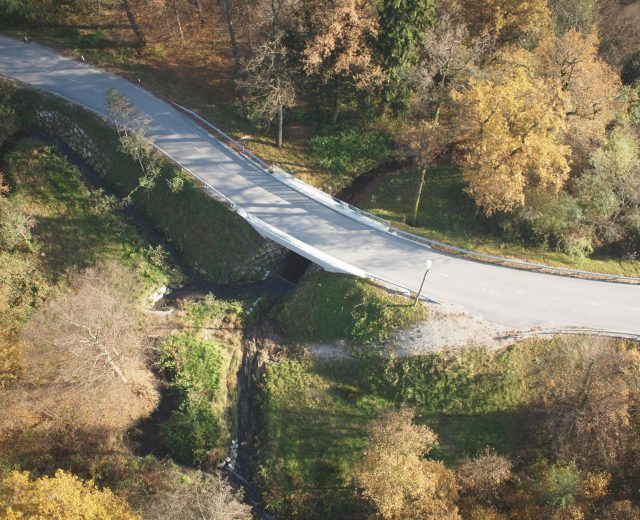 Bridge Gaji, Celje (bird's perspective)